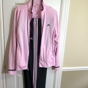 Vintage adidas pink training suit-XL